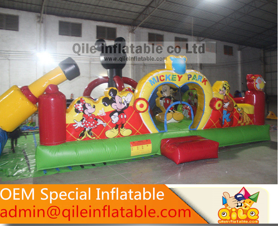festival discount Mickey Park kids playground fun city <strong>inflatable</strong>