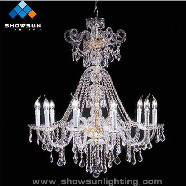 Popular design delicate ballroom crystal chandeliers