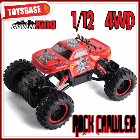 4WD05 RC Rock Crawler for Sale King Medium (1:12 Scale) R/C Off-Road 4WD Vehicle w/NiCd Rechargeable Battery & Remote Control
