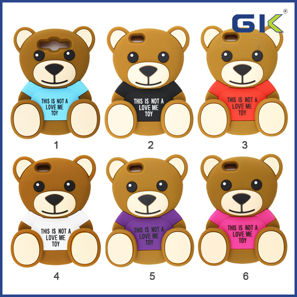 Cartoon bear silicon Case For IPhone 6