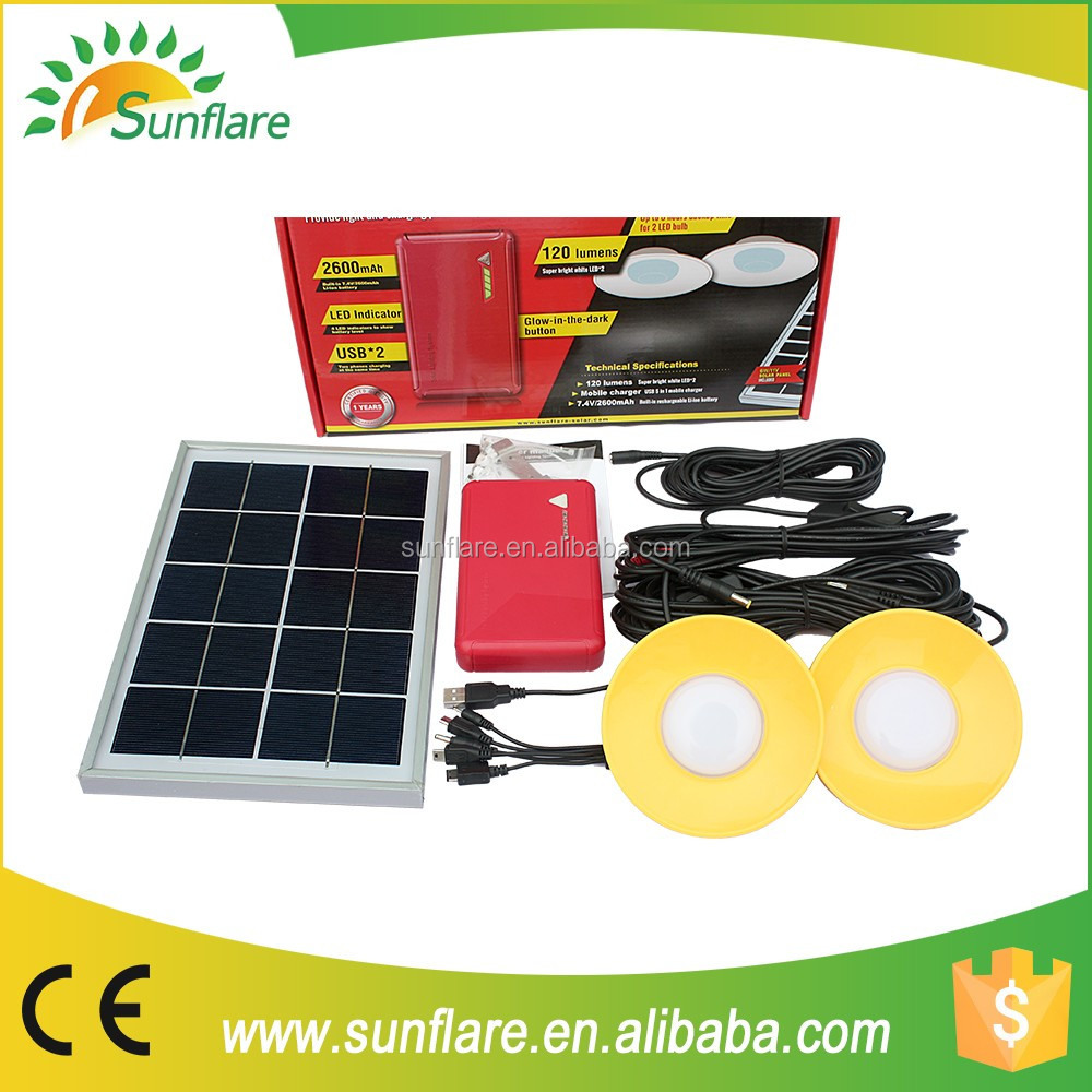 2016 New Solar Home Lighting Systems With 6w Solar Panel