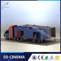 Indoor Playground Equipment Interactive Gun Shooting Truck Mobile 7D Cinema