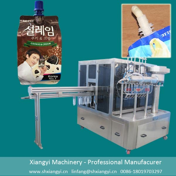 spout pouch filling machine for jelly/automatic rotary pouch capping machine