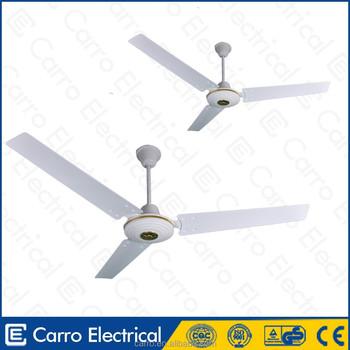 Solar operated 12v 30w 56inch 3 metal blades dc motor ceiling fan
