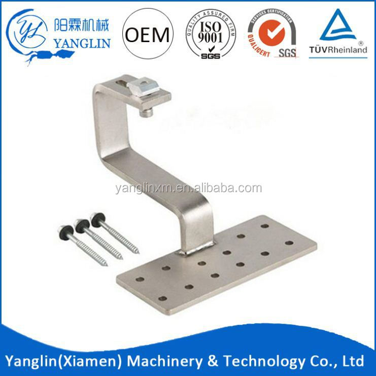 Hot Sale Stainless Steel Coat Flat Panel Tile Solar Roof Hook