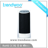 Latest smart multi-function wireless portable speaker,fabric cover premium sound Dual 5W Drivers
