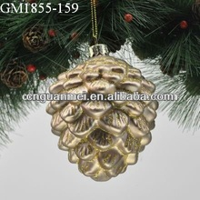 2013 glass deal apple christmas hanging decoration
