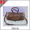 antique style real leather big travel lugguage bags