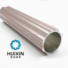 6063T5 Anodized Silver aluminium curtain rail alloy tube for window