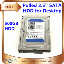 Brand hard disk 500gb with price 3.5'' SATA 0.5KG 7.2K used computer hard drive lot