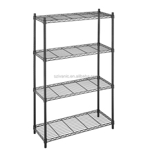 Epoxy black flower shelf metal storage rack wire shelving