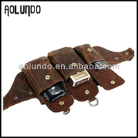 Popular Riding Travel Waist Leather Hip Bag With Phone Pocket