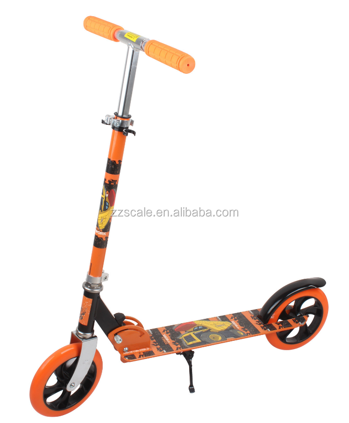 Adult Cruiser Kick Scooter with Front Shocks,Adjustable Height Commuter Street Push Foldable Kids Kick Scooter for Adults