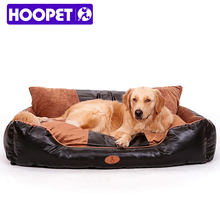 OEM Black Luxury PU Leather Lounger Pet Bed For Large Dogs