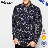 2015 OEM Manufacturer High Quality Custom All Over Floral Print Men Shirts