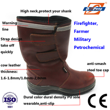 high quality red buffalo leather high cut acid & alkali resistant safety shoes philippines