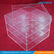Decorative Clear Acrylic Artificial Flowers Packing Box