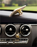 Small Size 360 Degree Rotation Strong Magnetic Mobile Phone Car Holder with Retail Package