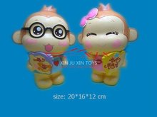 Cute Animal Figurines, Big Mouth Monkey Toys For Child
