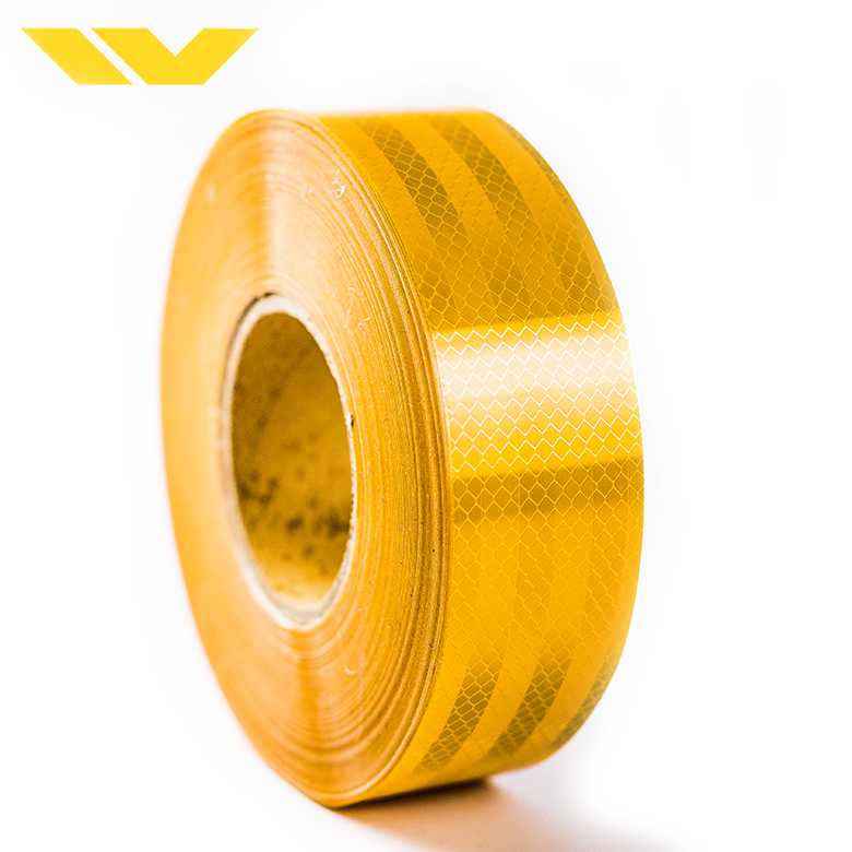Pvc yellow honeycomb trunk warning printable vinyl sheet tape reflective for road sign