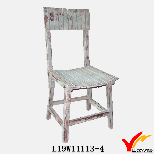 vintage painted wood seating chairs decoration