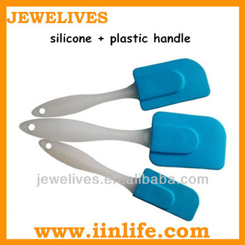 Durable food grade silicone types hard plastic spatula