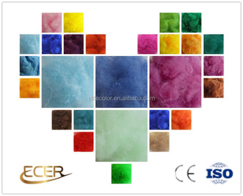 Virgin grade professional production in recycled dope dyed polyester staple fiber for spinning or non-woven fabric use PSF