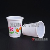disposable plastic white glass drink cup
