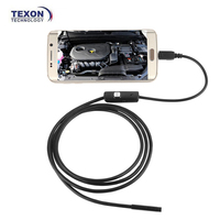 AN97 5.5mm Android and PC 6 LED Waterproof USB Borescope Snake Tube Camera Mirror Inspection driver usb Endoscope Camera