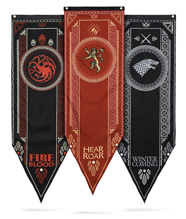 "GAME OF THRONES Stark Tournament Tapestry Poster Flag Banner 18"" x 60"""