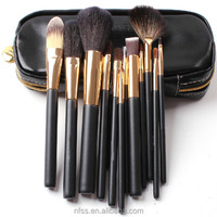 wholesale alibaba makeup brushes set goat hair 12 pcs makeup brush set for beauty and cosmetic accessories
