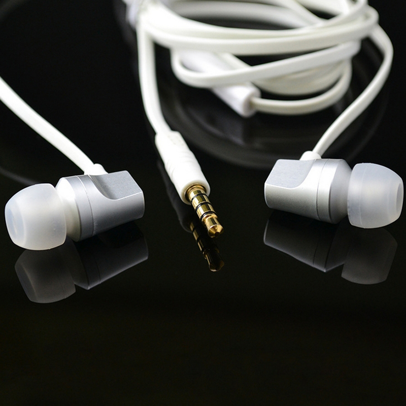 Hands Free Colorful Mobile Phone Earphone 3.5MM Plug Headset with Mic for Players Wired Earbuds