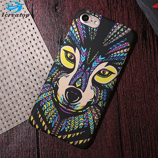 Hot Sale!Charm design Fluorescence Noctilucent Case Unique Animal Custom Printing PC Hard phone case for iphone 7