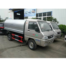 Gasoline Single Wheel Sealed Garbage Truck For Sale