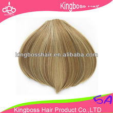 Clip In Bangs Human Hair Girls Clip In Bang Fringe Neat Hair Extensions Human Hair Clip in Bangs blond color