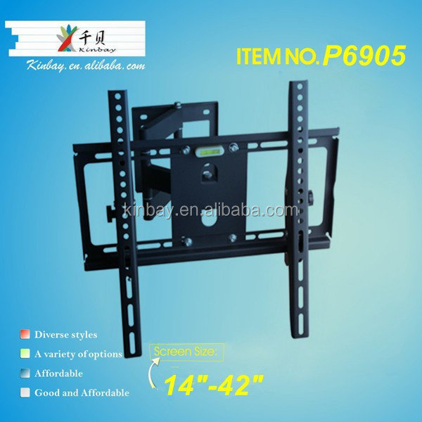 2015 best selling single arm articulating cantilever brackets led tv wall mount bracket