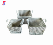 wholesale cheap metal wire mesh storage basket with liners and handle