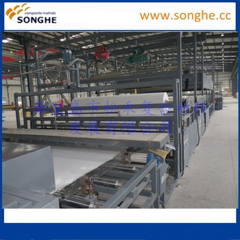 2017 Gel coat fiberglass sheets making machine for container