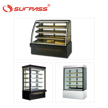 Curve glass bakery display commercial refrigerator showcase curved cases cake fridge