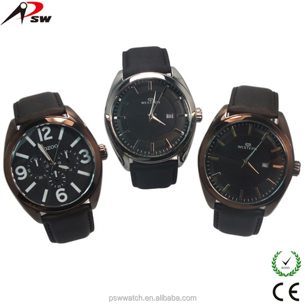 western wrist watches london genuine leather quartz watch