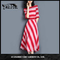 China wholesale supplier women vintage stripe swing dress retro boat neck