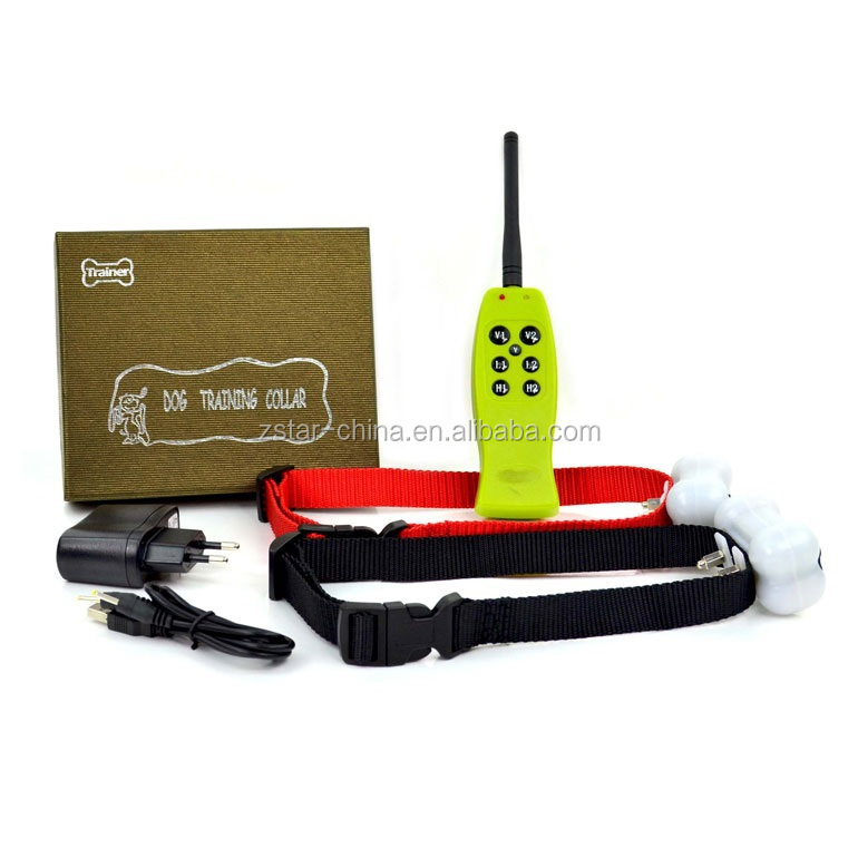 2015 fashionable Green color 350m Remote control two dogs Electric Shock Stop barking Dog Pet Trainer