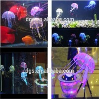 2015 Hot Sell Glowing Vivid Artificial Jellyfish Fish Aquarium Fish Tank Decoration