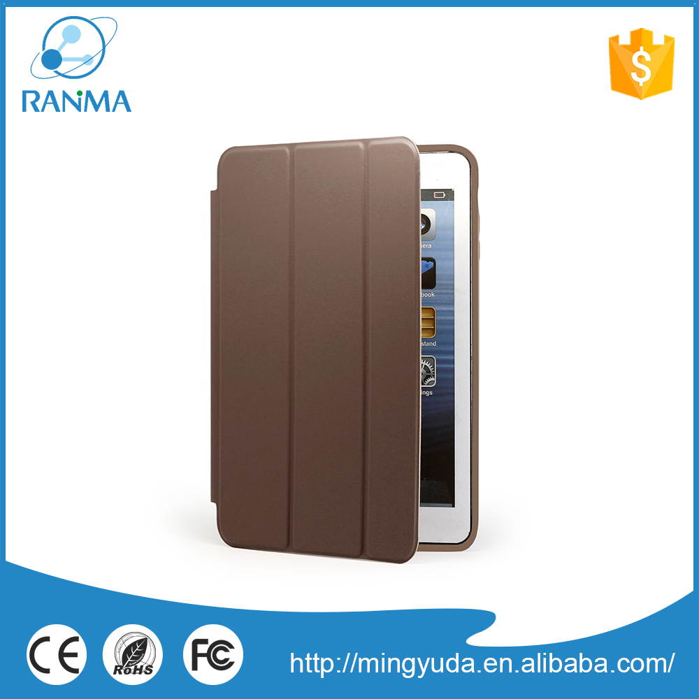Wholesale Customized ultra slim leather flip case for ipad mini