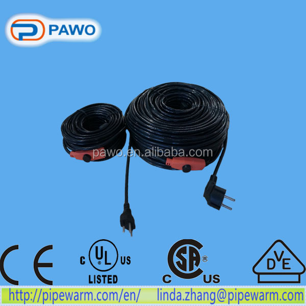 Roof snow melt /electrical cable /12v heating cable with UL / CSA certification for North America