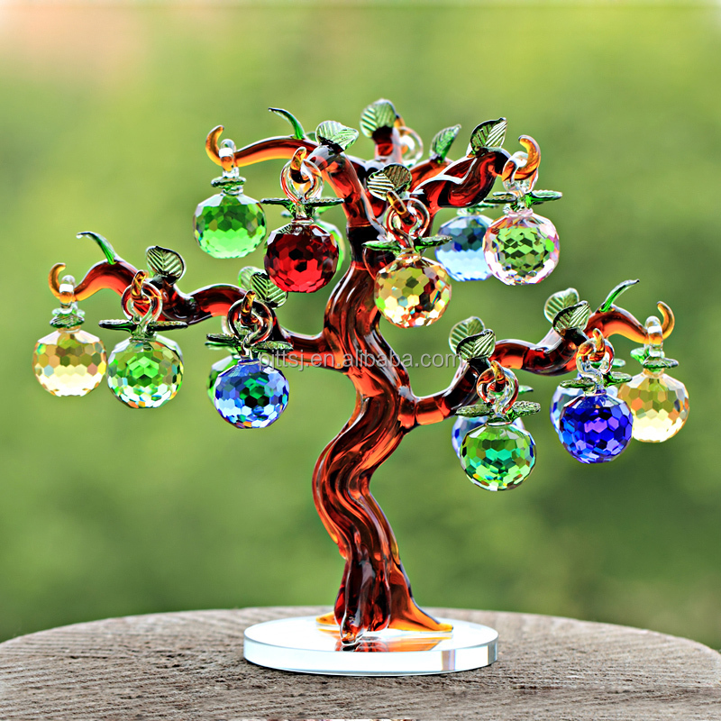 Crystal apple new household decoration luxury furnishing articles peace lucky tree business and wedding gifts