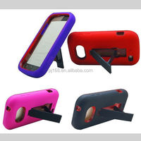 PC + Silicone combo robot hybrid kickstand case for Samsung galaxy centura S738C R740C