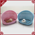 Decorative indoor woven rattan soft style pet dog bed house large cat show cages