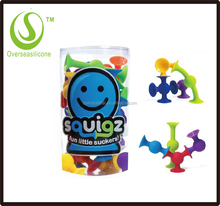 Fat Brain Toys Squigz- Starter Set Building Kit silicone building blocks splicing toys