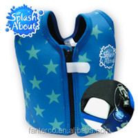 Fashionable children swimwear distributor Cute Printed NEOPRENE UPF50+ taiwan 1-3y float jackets